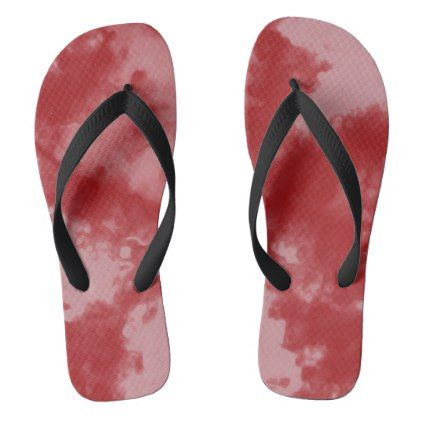 #Abstract Liqud Aquarell Gradient Red Flip Flops - #womens #shoes #womensshoes #custom #cool