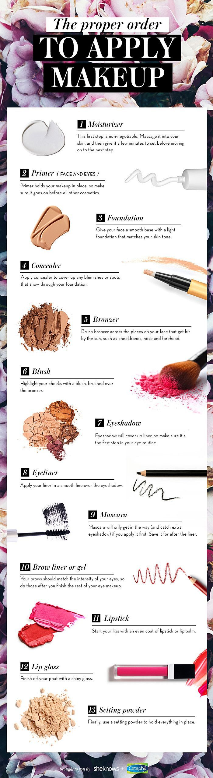 There#39;s a correct order for applying makeup and I#39;m going to tell you what it is