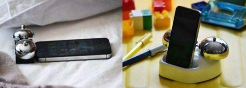 iBell-iPhone-Alarm-Clock-Cradle-Twin-bell-retro-ringing-alarm-mini-from-Japan