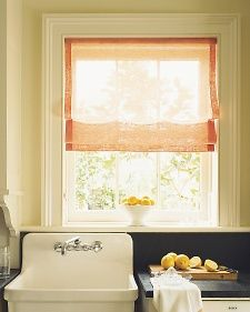 Casual Sheer Shade - Martha Stewart Home & Garden- for the living room two per window, add stripe along edges?
