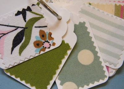 homework: a creative blog: Sew and Tell: fabric swatch book
