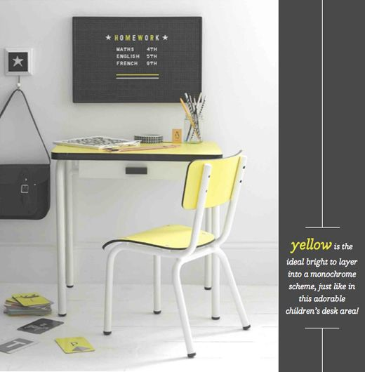 Grey + Yellow | Good Homes | Photo by Max Attenborough | Styling by Charlotte Love | via Bright Bazaar