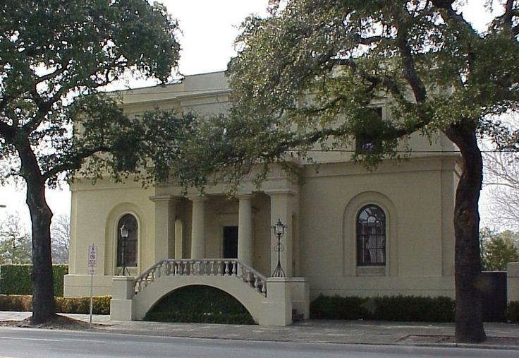 Wm. Scarbrough House in Savannah, Georgia is the earliest example of the domestic Greek Revival in the Deep South, built in 1819 for one of the principal owners of the Savannah, the first steamship to cross the Atlantic. The architect & builder was Wm. Jay, only 25 years old when he came from England in 1817, bringing to Savannah the opulent architecture of the great city, with lavish Classical ornament, the new Greek Revival style & pioneering use of cast iron for structure & decoration