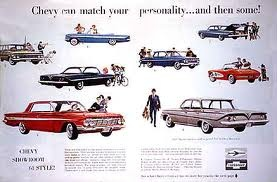 vintage 1960 Chevy lineup ad