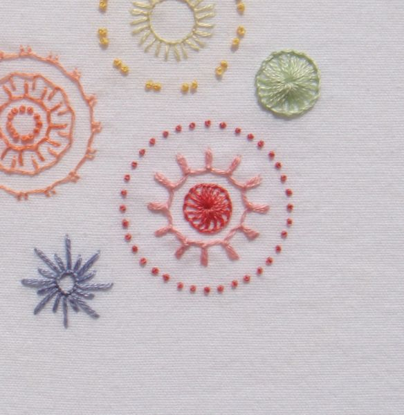 Blanket stitch sampler : The Stitch and Thimble 09