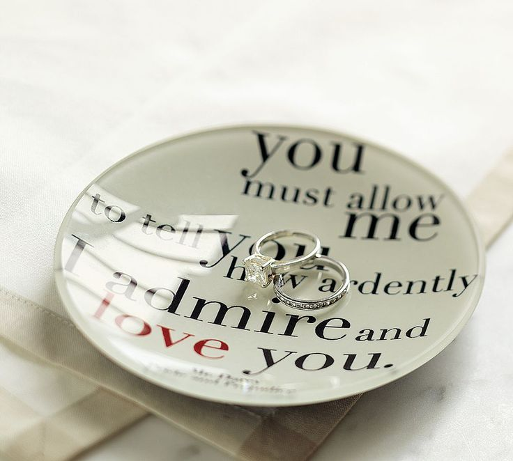 wedding rings in a pride and prejudice quote! :)