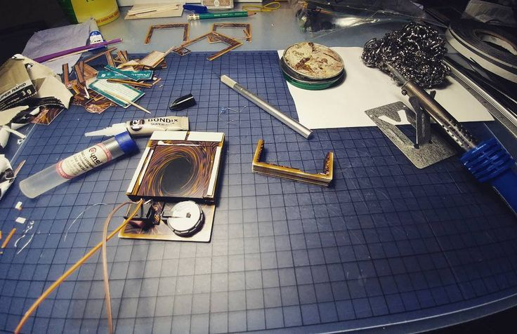 Progress on the new card. Some electric stuff going on  #yugioh #wip #handmade #papercraft #electronics #3d #cards