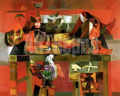 Estudiante Muerto by Alejandro Obregon Oil painting