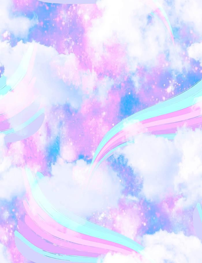 Rainbow Unicorn Clouds For Baby Show Photography Backdrop ...