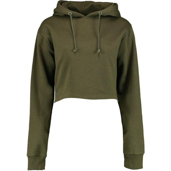 Boohoo Megan Cropped Overhead Hoody | Boohoo (213.200 IDR) ❤ liked on Polyvore featuring tops, hoodies, cropped hoodie, basic t shirt, long-sleeve crop tops, high neck crop top and cotton hooded sweatshirt