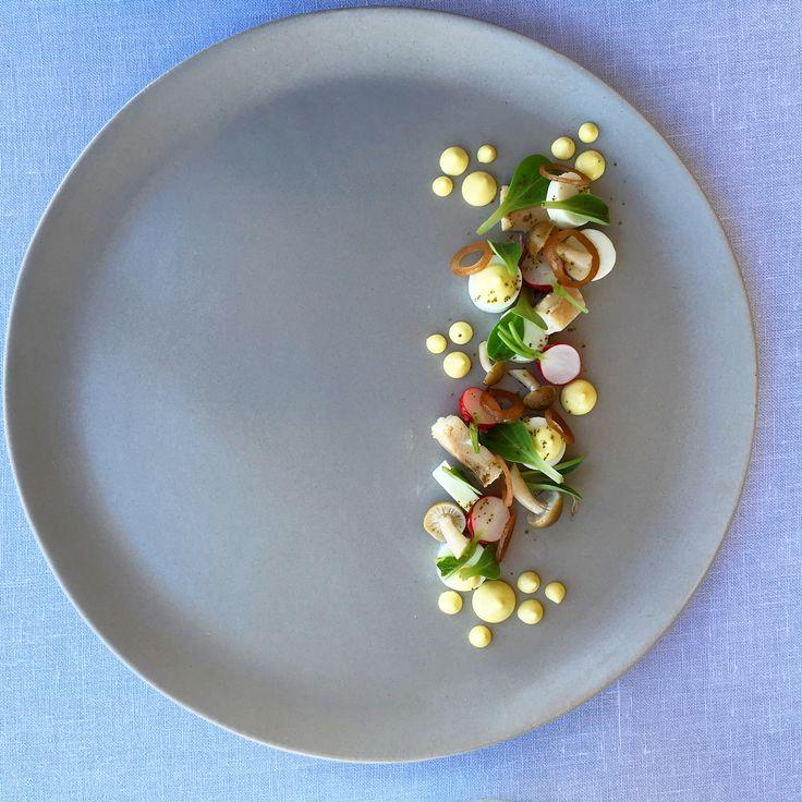 Smoked Trout, Vadouvan, Cucumber, Radish, Honshimenjis