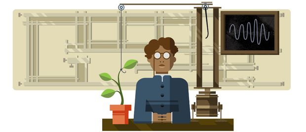Google doodle celebrates scientist Jagdish Chandra Bose     - CNET                                            Google                                          Jagdish Chandra Bose was by all accounts a modern-day renaissance man.  Born in Bangladesh in 1858 Bose was chiefly a scientist who made several contributions to various fields including physics biology and archaeology. But Bose is perhaps best known for his pioneering work in biophysics.   To honor Boses achievements Google created a…