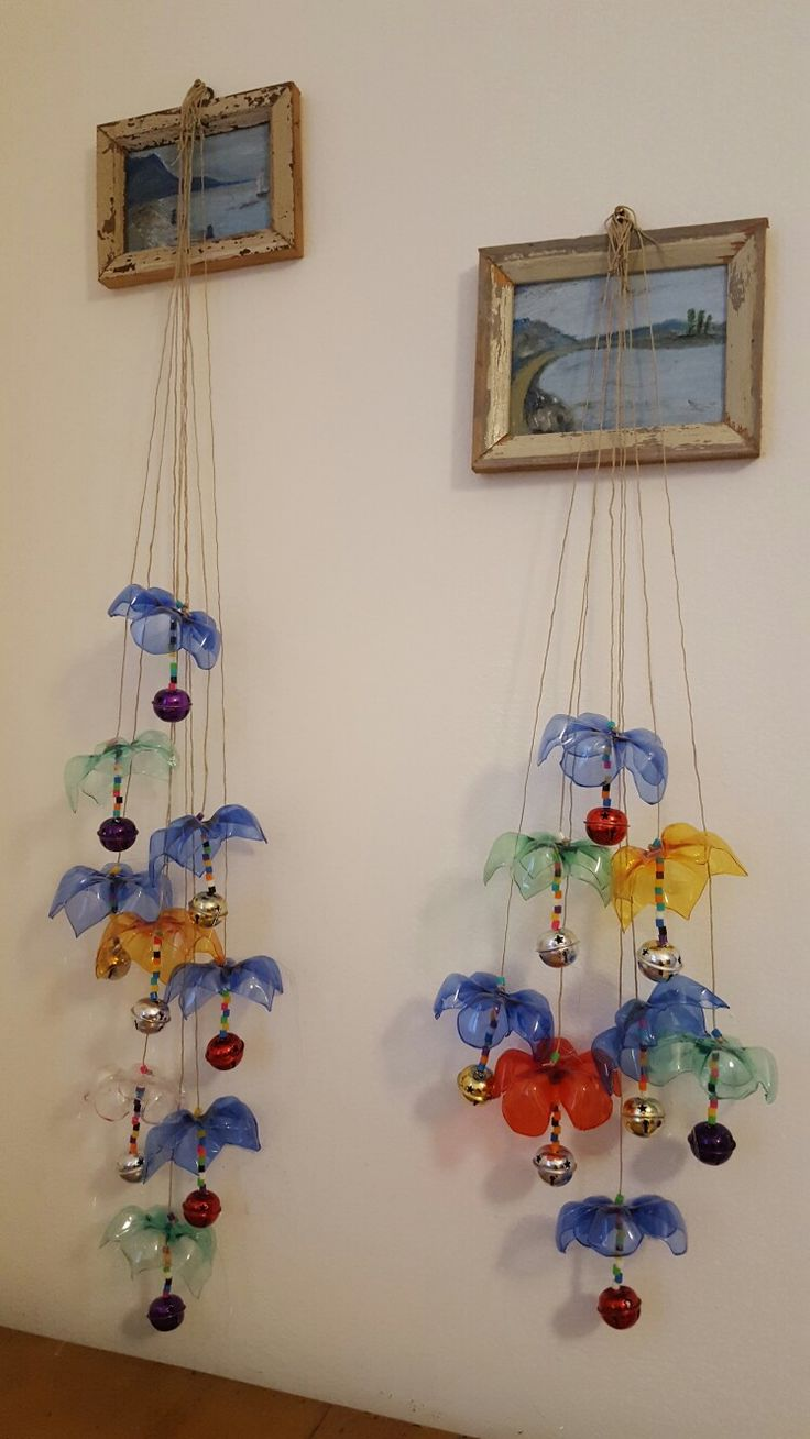 My plastic bottles wind chimes