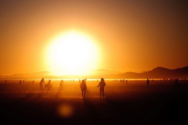Sunrise at Burning Man by Ethan Killian Photography, via Flickr