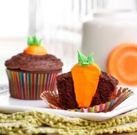 Bunny's Carrot Garden Easter Cupcakes