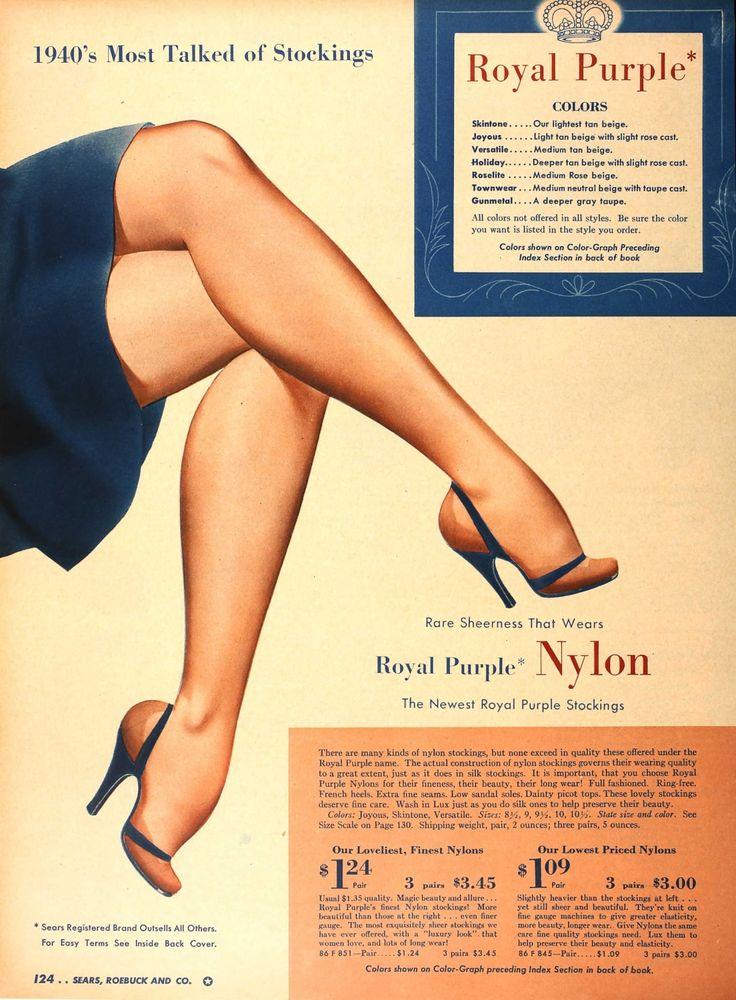 Nylon stockings in Sears & Roebuck, 1940