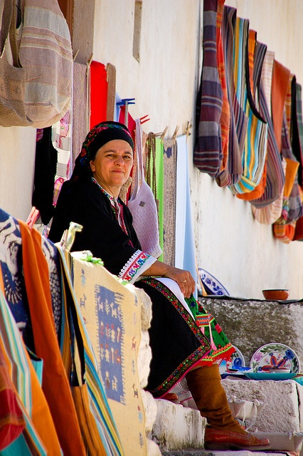 This is my Greece | Woman in Olympos village dressed in traditional costume on Karpathos island