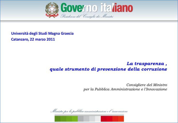 Catanzaro, 22 marzo.Maurizio Bortoletti.Trasparenza come integrità by progettoetica via slideshare