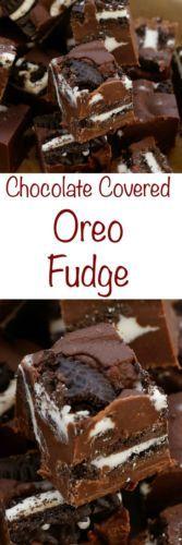 Chocolate Covered Oreo Fudge