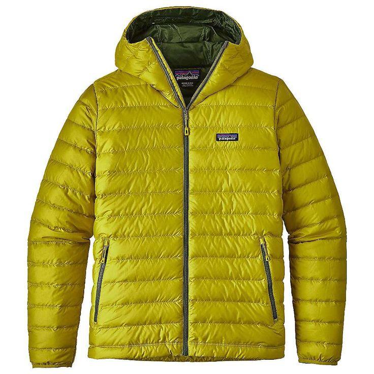 Patagonia Men's Down Sweater Hoody - Large - Fluid Green
