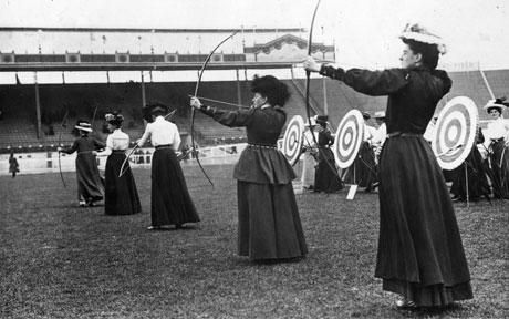 The women's archery competition at the 1908 London Olympics in White City. 37 women competed in the 1908 games. #BravelyDone