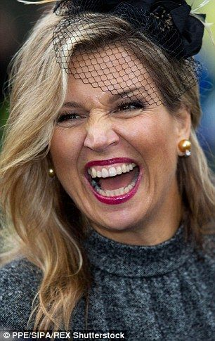 Queen Maxima is in high spirits as she visits former mining region