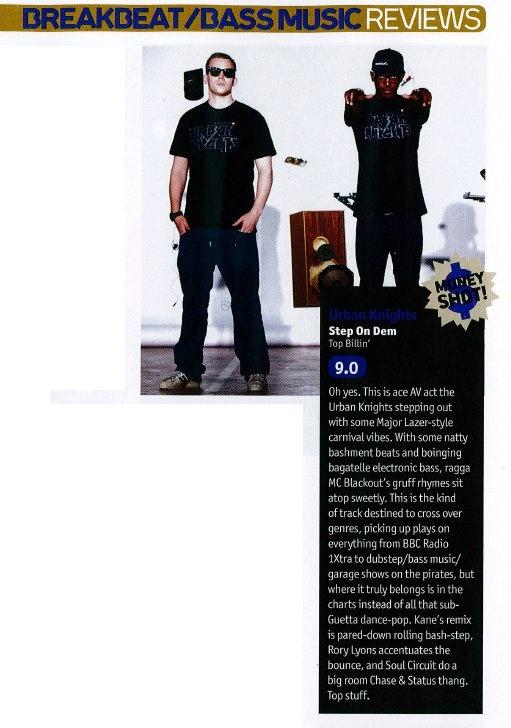 Nice words on Urban Knights 'Step on Dem' release in DJMag, April 2012.