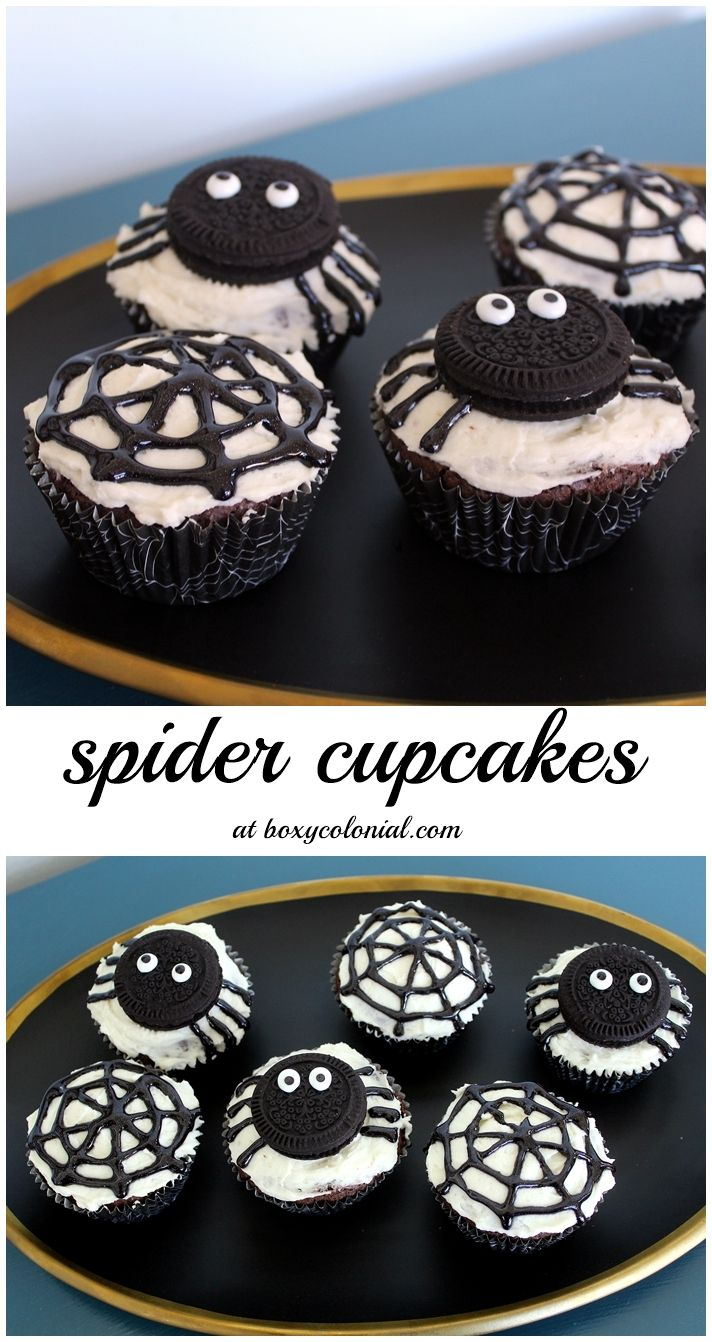 abes very busy spider party halloween cupcakes easyhalloween cupcakes decorationhalloween
