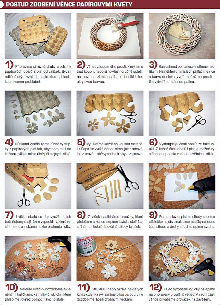 Věnec zdobený obaly od vajíček | Chatař & Chalupář