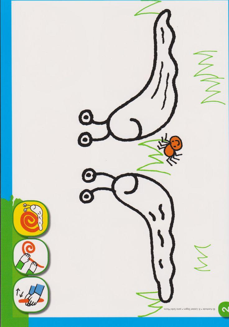 Een slak maken met klei
