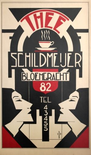 Thee Schildmeijer Art Deco, 1930s - original vintage poster listed on…