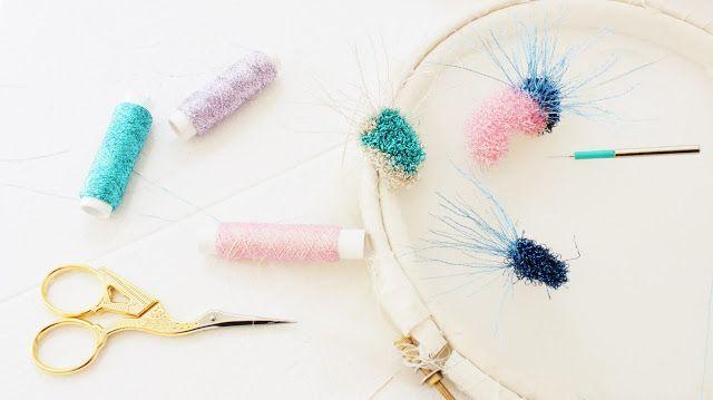 Laura ameba: embroidery