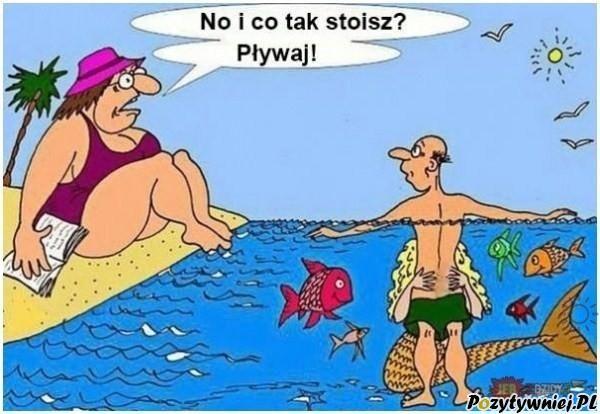 Pływanie w morzu