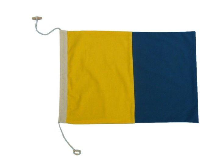 Letter K Cloth Nautical Alphabet Flag   20   Boat Flag  Beach Theme Decor