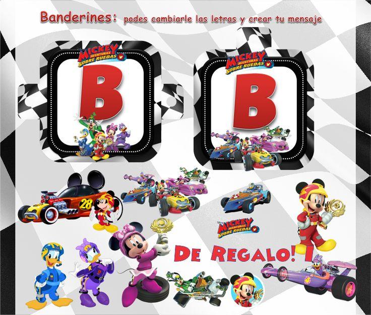 Kit Imprimible Mickey Aventuras Sobre Ruedas Candy Bar Edita - $ 55,81