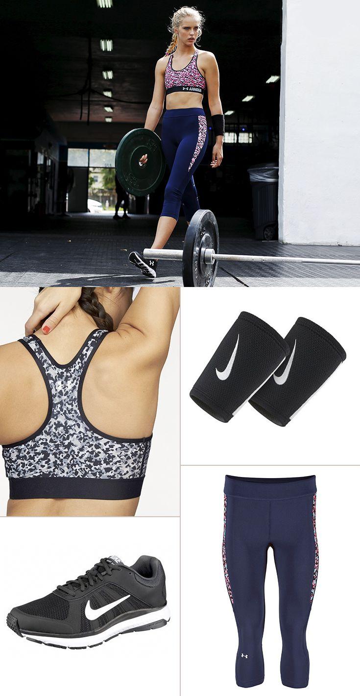 Auffällige Allover-Prints sind in der Sportmode gerade voll im Trend – daran halten sich auch diese freshen Styles von Under Armour im ultraengen Compression Fit. Perfekt wird der Auftritt mit den superbequemen Laufschuhen von Nike.
