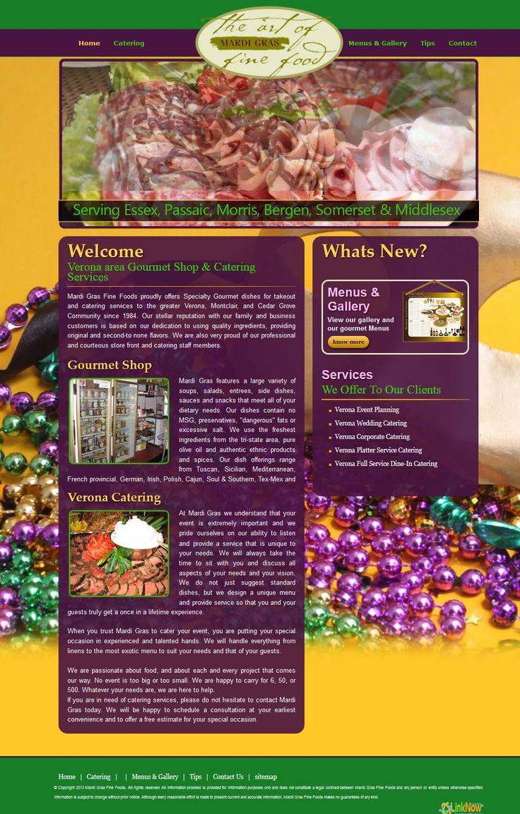 Catering & Food Service Designs, Web Integrations #webDesign