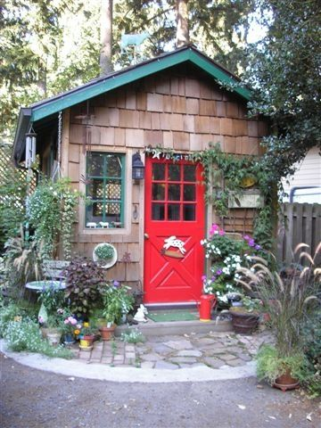 Another cute garden shed idea