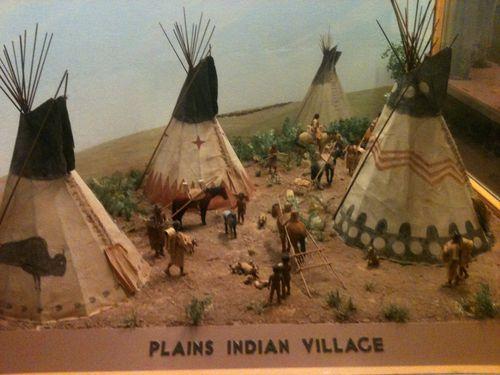 diorama sioux village