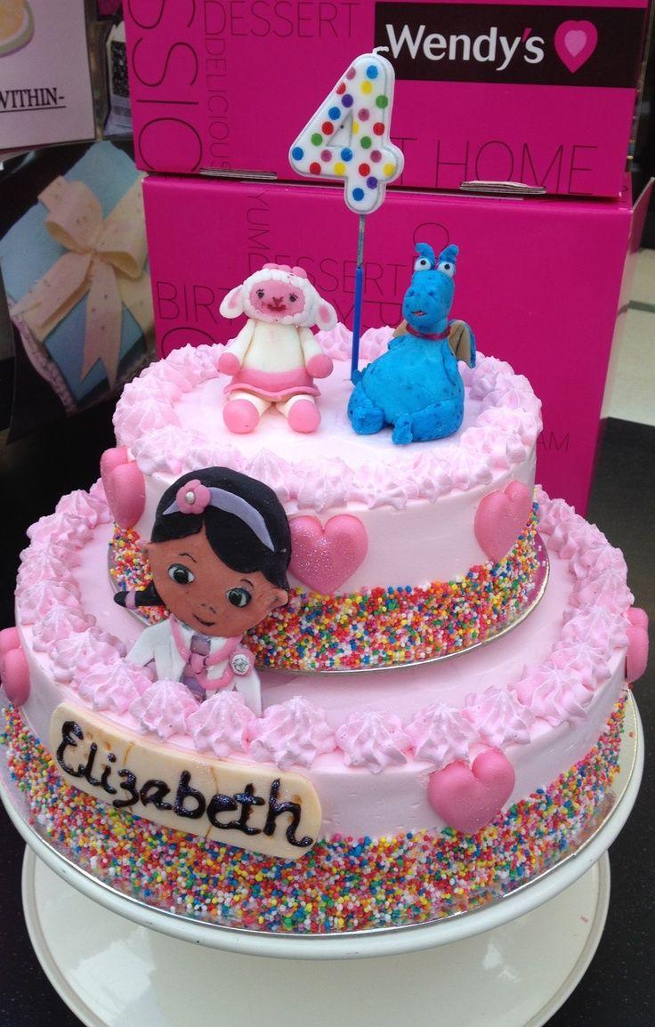 doc mcstuffin cake   Doc McStuffins Ice Cream Cake   Party ideas