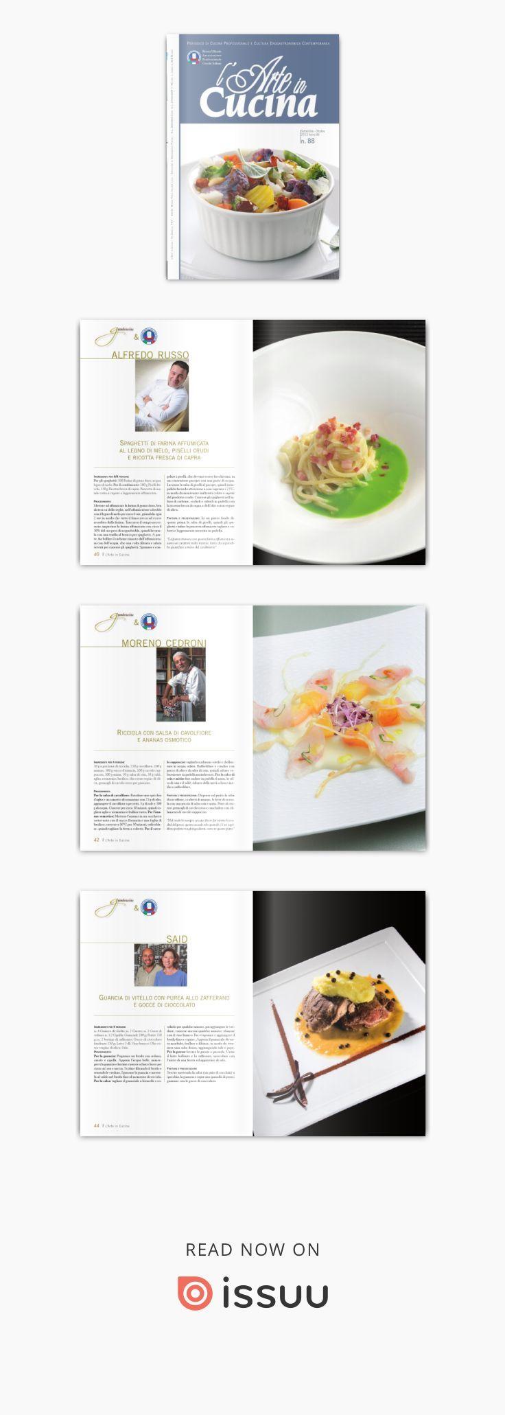 Numero_88 L'Arte in Cucina Set/Ott 2012  Progetto editoriale bimestrale che raccoglie tutte le nostre iniziative e dedicato all'informazione e formazione