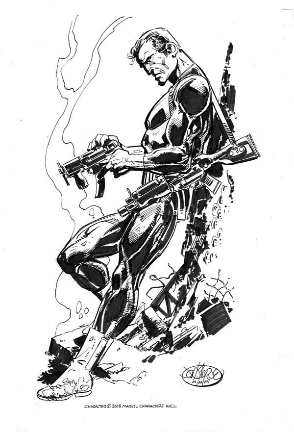 The Punisher commission by John Byrne. 2008.
