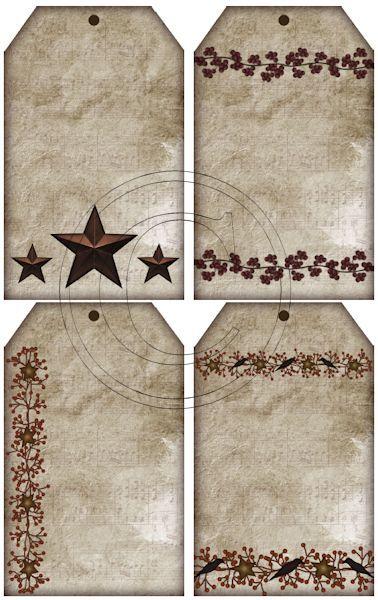Free Set of U Print Hang Tags -Stars and Pip