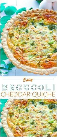 This easy vegetarian broccoli quiche recipe has a creamy smooth custard interior, and it's filled with broccoli and sharp white cheddar cheese.   Vegetarian Quiche   Broccoli Cheddar Quiche   Brunch Recipe    Breakfast Recipe