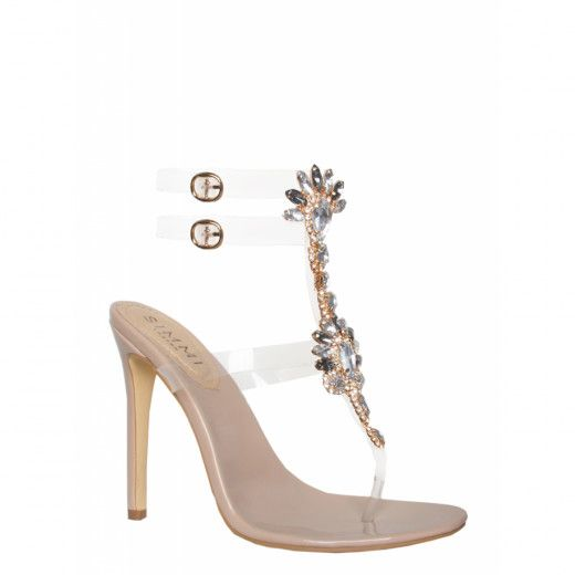 993c81b5e61 Nala Nude Gem Clear Stiletto Heels : Simmi Shoes | Go get these ...