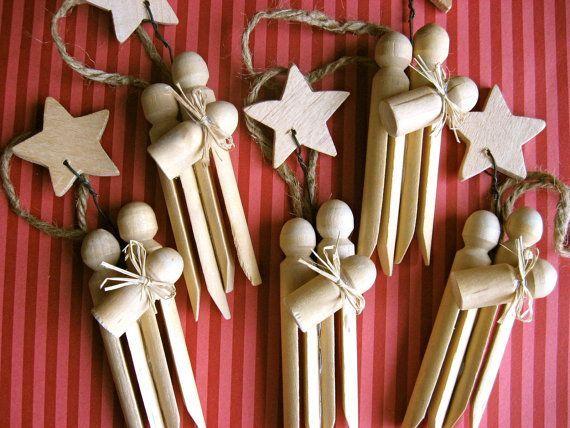 handmade nativity sets clothespins | Cute idea for a nativity ornament | Homemade Ornaments