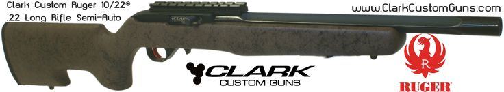 Tacdriving Clark Custom Ruger 10/22 Rifle with Match grade deep flute bull barrel, Bell & Carlson Target Varmint Kevlar Stock, KID 2 stage trigger, Power Custom Scope Base http://www.clarkcustomguns.com/1022con.htm