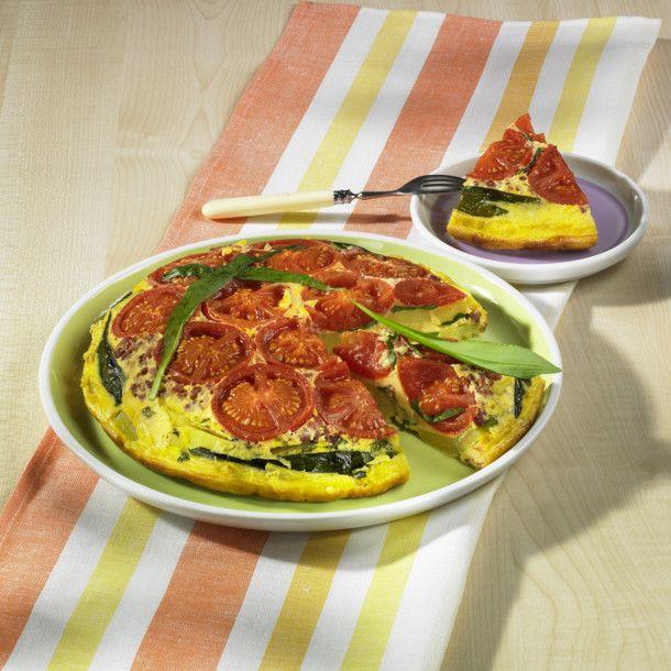 Unser beliebtes Rezept für Bärlauch-Tomaten-Tortilla und mehr als 55.000 weitere kostenlose Rezepte auf LECKER.de.