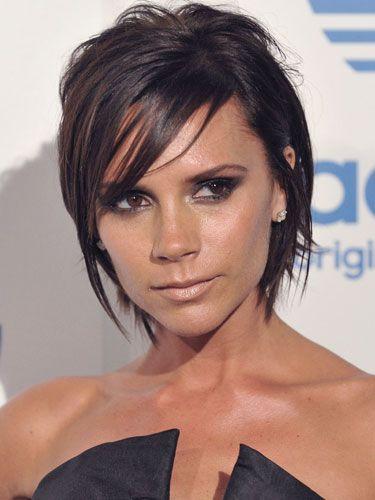 Victoria Beckham's choppy angled pixie #bob #haircut #hairdo