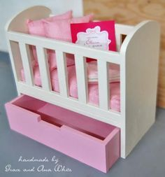 Eeeek! Super cute/easy plans for a baby doll crib! SOOO much cuter than the store bought cribs, This is going on my honey-do list STAT to accompany bitty baby under the Christmas tree!